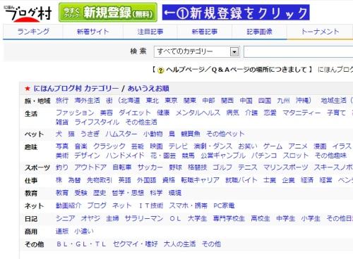 日本ブログ村に登録